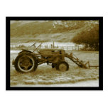 Postal antigua del tractor