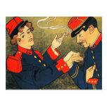 Postal: Anuncio del cigarrillo del vintage: Sigare