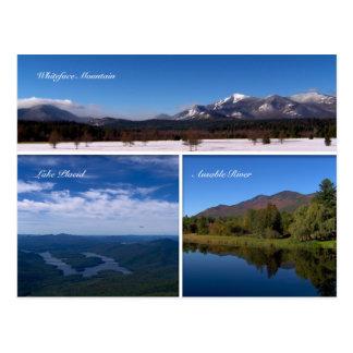 Postal apacible del Montaña-Lago de Whiteface