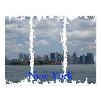 Postal apenada de Nueva York