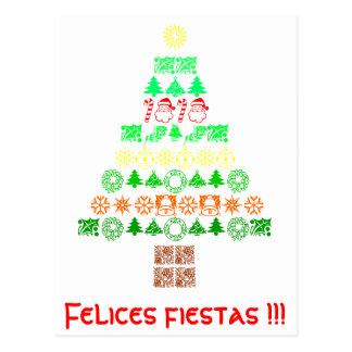 postal árbol navidad
