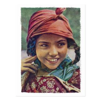 Postal argelina del chica