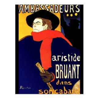 Postal: Aristide Bruant por Toulouse-Lautrec