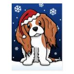 Postal arrogante del navidad del perro de aguas de