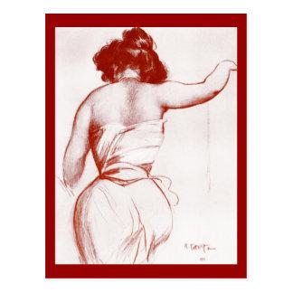 Postal-Arte de la Moda-Bakst 12 Tarjeta Postal
