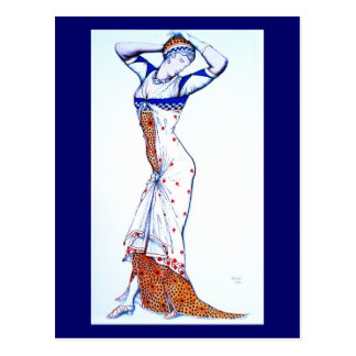 Postal-Arte de la Moda-Bakst 27 Postales