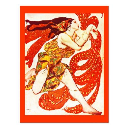 Postal-Arte de la Moda-Bakst 29 Tarjetas Postales