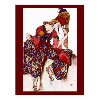 Postal-Arte de la Moda-Bakst 2 Tarjeta Postal