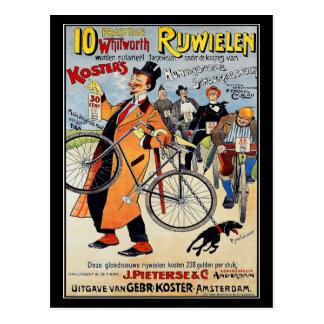 Postal: Arte de publicidad de la bicicleta del Tarjeta Postal