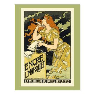 Postal: Arte del poster del vintage de Nouveau del Tarjeta Postal