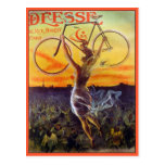 Postal: Arte francés de la bicicleta del vintage