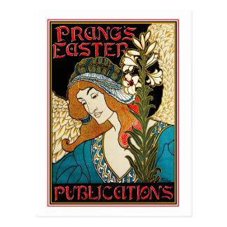 Postal: Arte Nouveau - L.Rhead - Pascua de Prang Tarjetas Postales