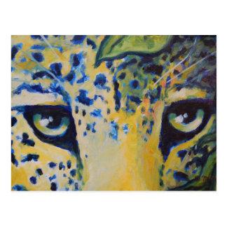 Postal - arte salvaje del gato de leopardo del gat