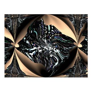 Postal artística de los pescados del ángel