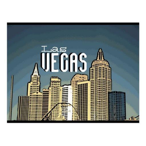 Postal artsy de la opinión del hotel de Las Vegas