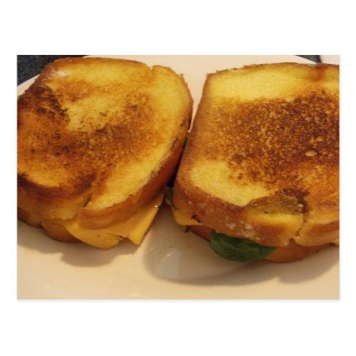 POSTAL asada a la parrilla del queso
