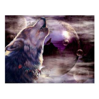 Postal asombrosa de la canción del lobo