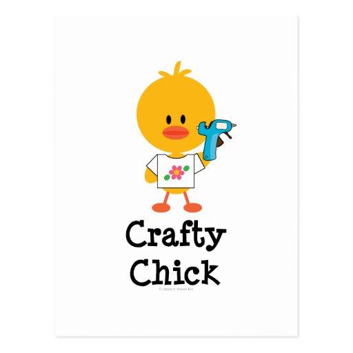 Postal astuta del polluelo