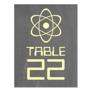 Postal atómica amarilla del número de la tabla de
