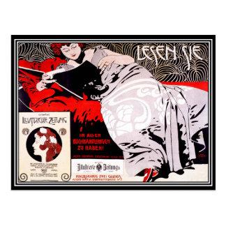Postal: Austriaco de la secesión del vintage - Tarjetas Postales