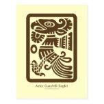 Postal azteca de Cuauhtli - de Eagle (Brown)