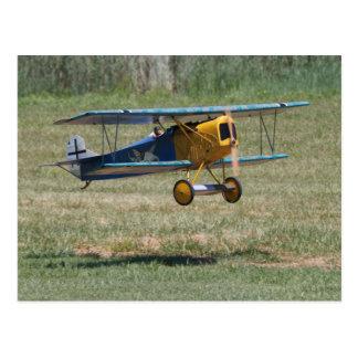 Postal azul de Fokker D.VII