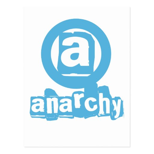 Postal azul de la anarquía
