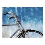 Postal azul de la bici