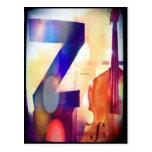 """Postal azul de la letra """"Z"""""""