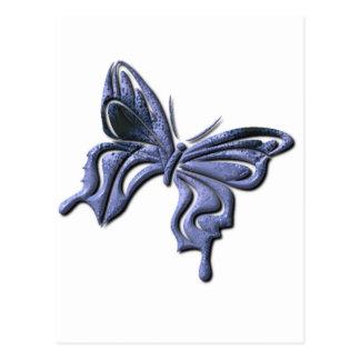 Postal azul de la mariposa de Swallowtail