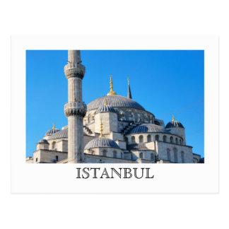 Postal azul de la mezquita