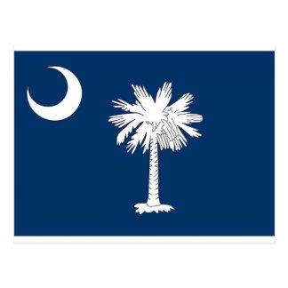 Postal azul de la palma de la bandera del estado d