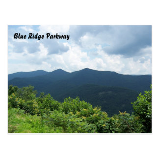 Postal azul de la ruta verde de Ridge