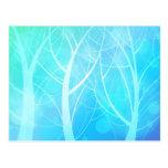 Postal azul del bosque