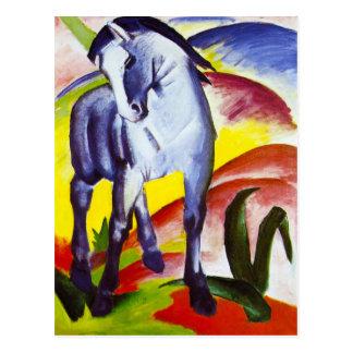 Postal azul del caballo de Franz Marc