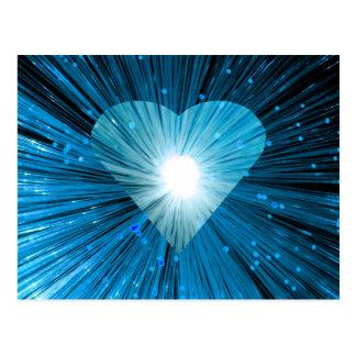 Postal azul del corazón