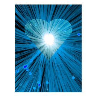 Postal azul del corazón vetical