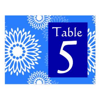 Postal azul marino del número de la tabla de la fl