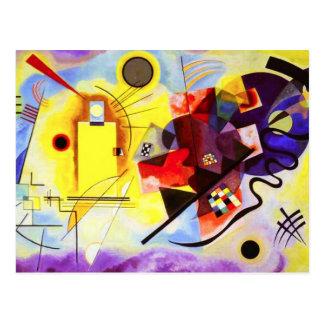 Postal azul roja amarilla de Kandinsky