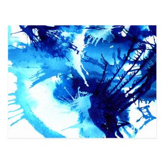 Postal azul vibrante del arte abstracto