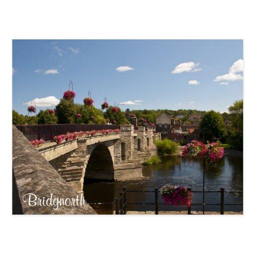 Postal baja del puente de la ciudad de Bridgnorth