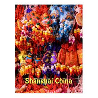 POSTAL - baratijas chinas coloridas Shangai