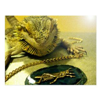 Postal barbuda del dragón de la joyería del reptil