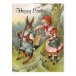 Postal bávara del chica del Victorian del conejito