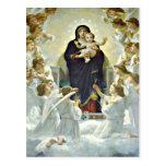 Postal bendecida de Maria y de Jesús