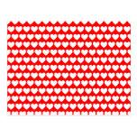 Postal blanca de los corazones