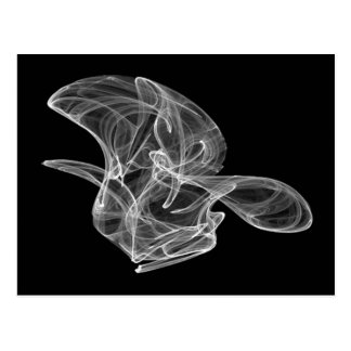 Postal blanca del fractal del humo