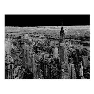 Postal blanca negra de New York City