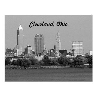 Postal blanco y negro de Cleveland OH