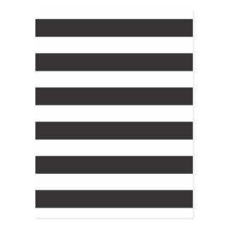 Postal blanco y negro de las rayas